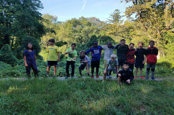 SHMS students participate in a hike to build friendships and learn in nature.
