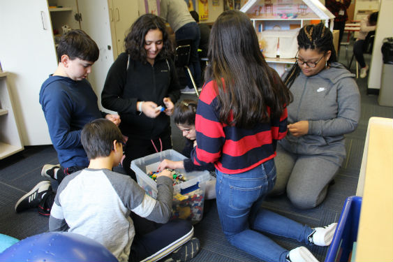 MS students volunteer in Lunch Buddy Program