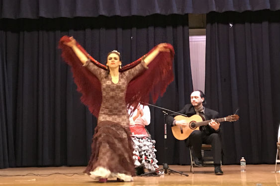 Morse first-graders learn about Flamenco dancing.