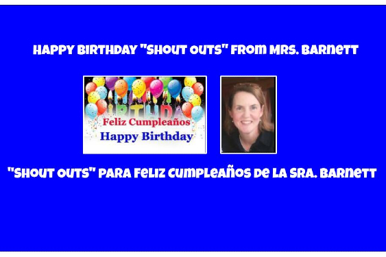 Happy Birthday to this Week's Friends  ~  ¡Feliz Cumpleaños a los Amigos/as de esta Semana!