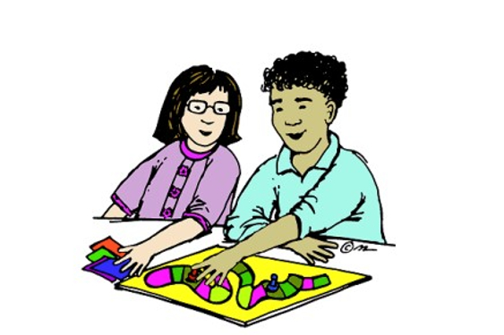 Students enjoy using their math skills during Family Math Night.
