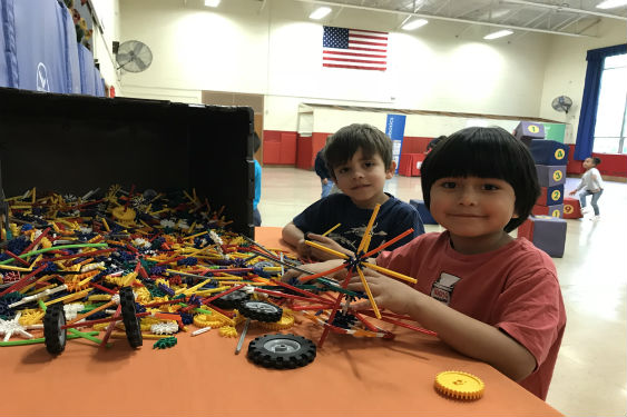 Students at John Paulding School were energized by the Mobile STEAM Museum on May 10, when it took