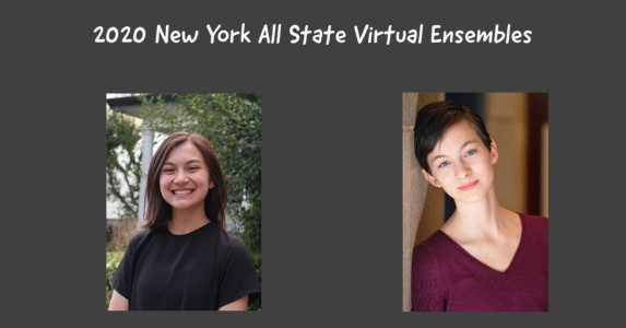 All State Virtual Ensemble two girls