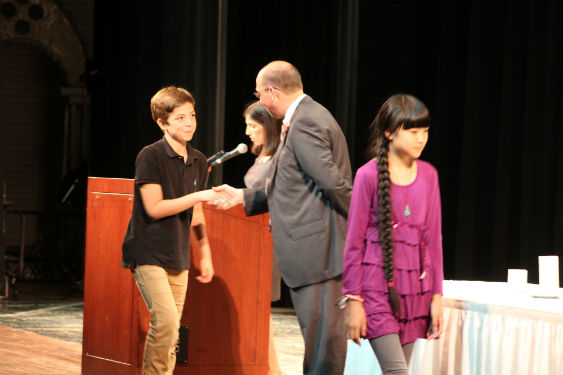 Middle School students inducted into National Junior Honor Society