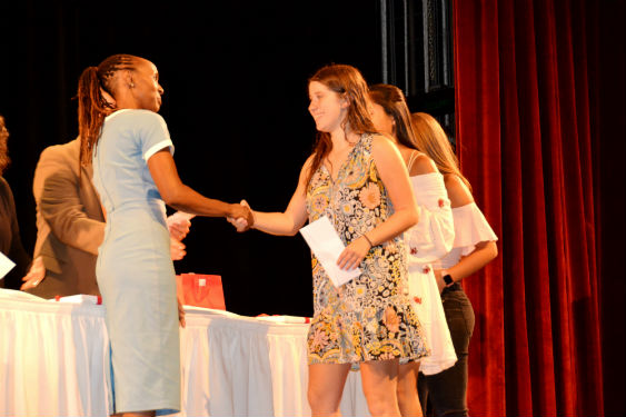 Students are recognized for their achievements during the school year.