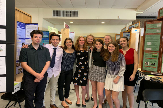 Nine Science Research students competed in the Tri-County Science Fair at White Plains High School.