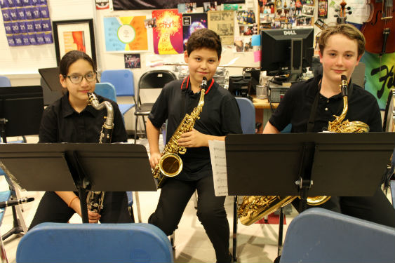Sleepy Hollow Middle School musicians prepare for their Spring Concert.