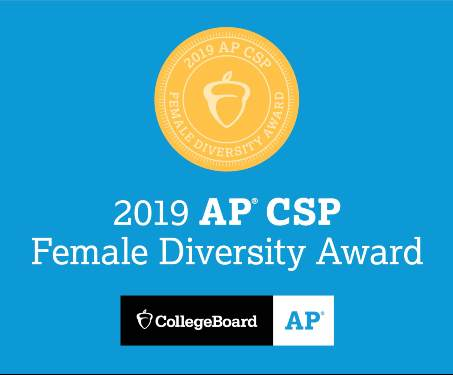 Sleepy Hollow High School has earned the College Board's AP® Computer Science Female Diversity Award