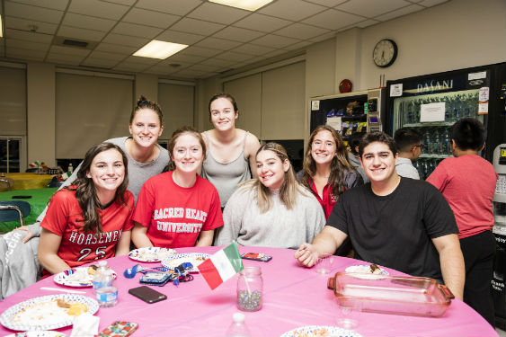 SHHS students host International Banquet for school community.