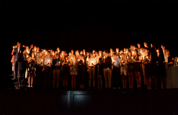 Students inducted into National Honor Society.