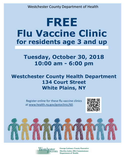 Westchester County Department of Health Free Flue Vaccine English